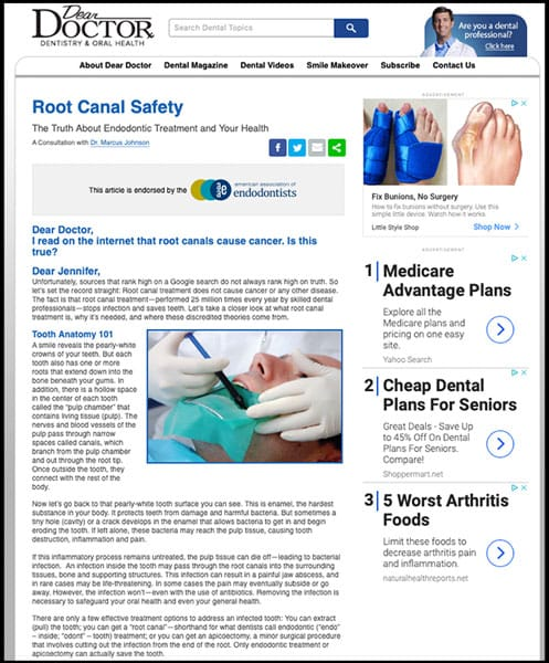 Root Canal Safety in Solon, OH